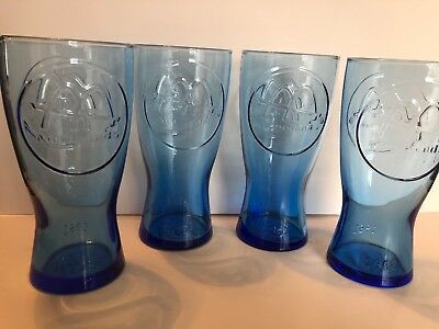 Vintage McDonald's Blue Glasses Retro 1961 in Very Good Used Condition Set Of 4
