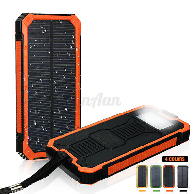 50000/100000/300000mAh Waterproof Portable Solar Power Bank USB Battery