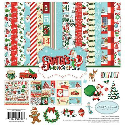 Carta Bella Collection Kit - SANTA'S WORKSHOP - papers & stickers - Christmas