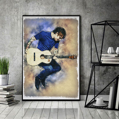 Ed Sheeran With Acoustic Guitar Poster 11-36 Inches Unframed Poster US Supplier