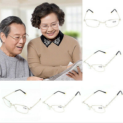 Portable Adjustable Crystal Folding Reading Glasses Strength Presbyopic Glasses
