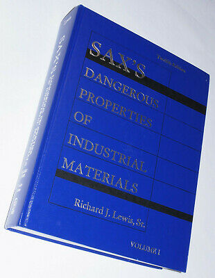 Sax's Dangerous Properties Of Industrial Materials, Volume 1 Only, 12Th Edition
