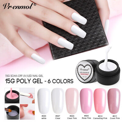 Vrenmol 15g Quick Building Gel Nail Extending Polygel Lacquer for Nail Extension