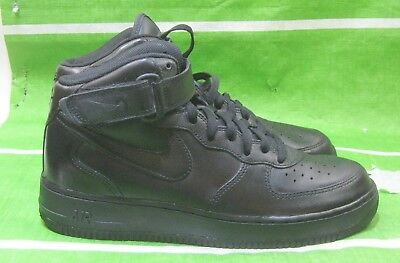 super popular 84b07 4ae09 Nike Air Force 1 mi Hommes 306352-001 Noir Athlétique Chaussures Baskets  Taille
