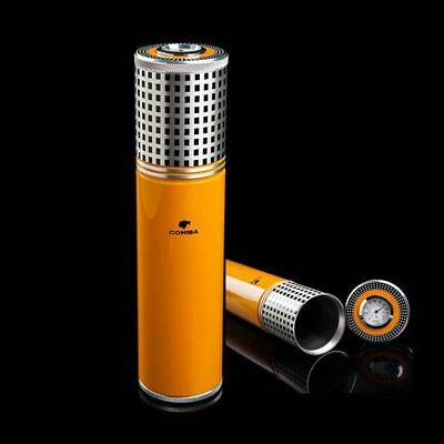 Portable Stainless Steel Cigar Tube/Holder/Case Travel Humidor with Hygrometer