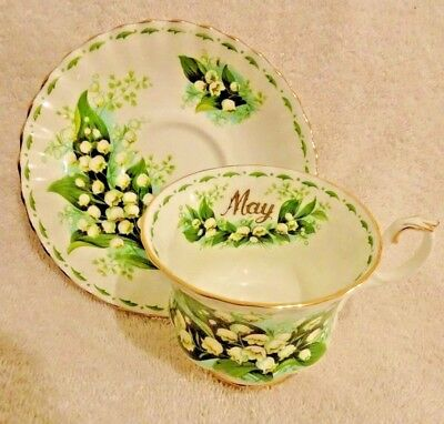 Royal Albert Flower of the Month May Cup and Saucer