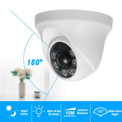 1080P AHD Dome CCTV Security Camera  2.0MP 160° Wide View  Indoor/Outdoor