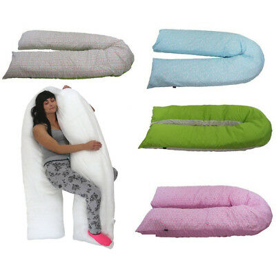 iSafe Large Soft U Shaped Pillow Pregnancy Maternity And Feeding With Cover