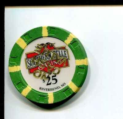 $25 Southern Belle Casino poker chip from Riverbend, MS