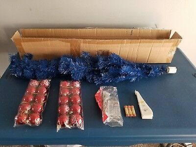 (L@@K) pabst blue ribbon beer pbr xmas tree  with ornaments & lights up new rare