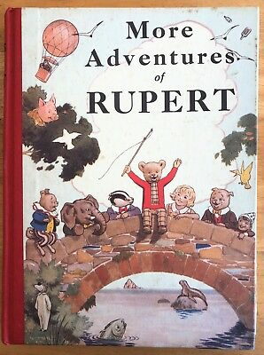 RUPERT BEAR FACSIMILE 1937 Title page little loose. VG Plus