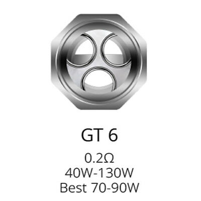 Vaporesso NRG GT6 0.2ohm Replacement Coils (Pack of 3)