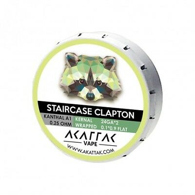 AKATTAK Kanthal A1 Staircase Clapton 0.25ohm Prebuilt Coil (Pack of 20)