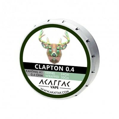 AKATTAK Kanthal A1 Clapton 0.4ohm Prebuilt Coil (Pack of 20)