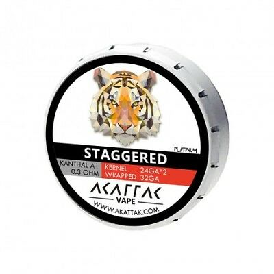 AKATTAK Kanthal A1 Staggered Clapton 0.3ohm Prebuilt Coil (Pack of 20)