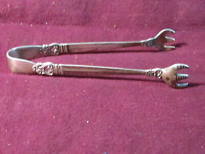 "International Sterling Royal Danish SUGAR TONGS 4 1/4"" 25g no mono"