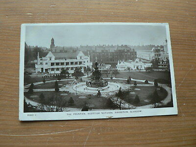 Old Photo Postcard: Fountain, Scottish National Exhibition 1911, Glasgow