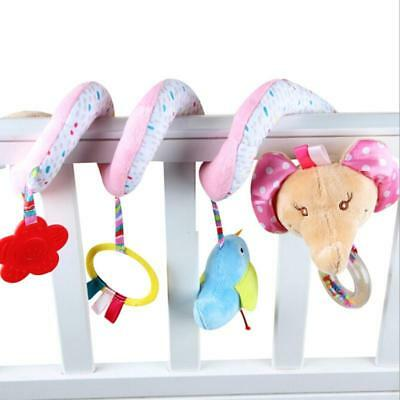 Baby Plush Rattle Spiral Soft Crib Rattle Toy Toddler Car Hanging Bell Rattle C