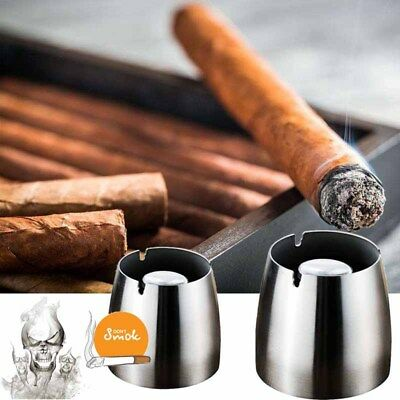 Classic Stainless Steel Ashtray Bar Ash Holder Gifts Cigarette Party Smoking Car