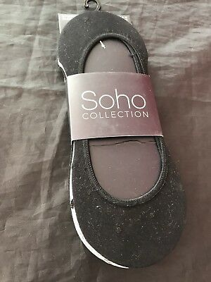 T160 Pack Of 3 Soho Collection Womens Footsies With Cushion Sole