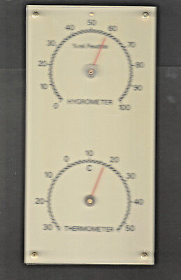 TOP  Uralte 1950er Jahre Hygrometer + Thermometer Station 115 x 230 mm D-Marke