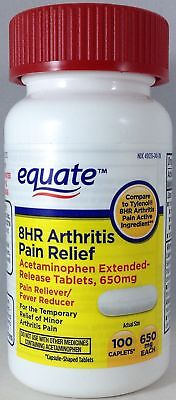 Exp 7/19 Equate 8 Hour Arthritis Pain Relief Extended Release 650mg - 100ct