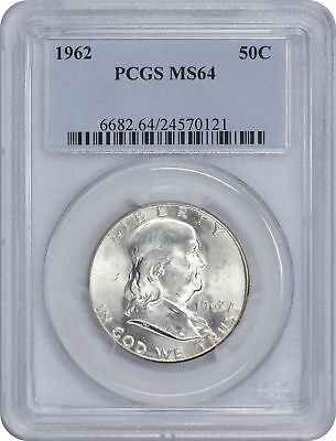 1962 Franklin Silver Half Dollar MS64 PCGS