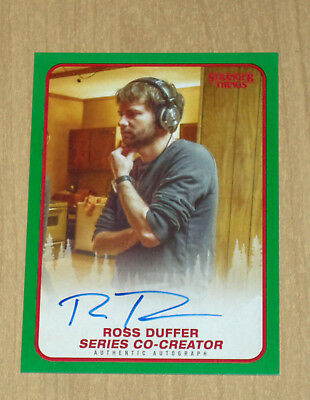 2018 Topps Stranger Things GREEN autograph auto Ross Duffer co-creator 44/50