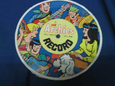 VINTAGE THE ARCHIES FULL FIDELITY 33 1/3 rpm paper record