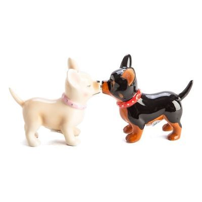 Ceramic Magnetic Chihuahua Dogs  Salt & Pepper Shakers ~ Kitchen ~ Home