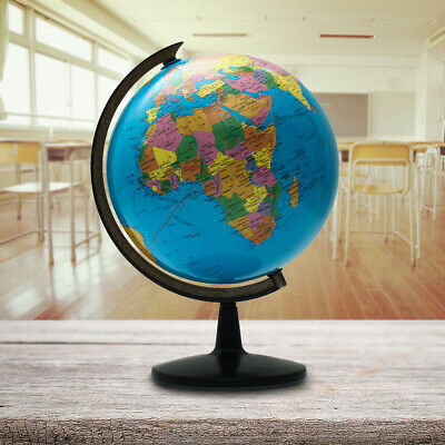 Rotating Earth Globe World Map Swivel Stand Geography Educational Decor