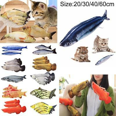 Cat Favor Fish Dog Toy plush Stuffed Fish Fish Shape Cat Toys catnip Scratch AE