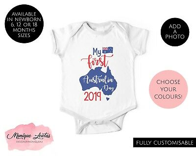 My First Australia Day Baby One Piece / Jumpsuit / Bodysuit - Unisex, Boy, Girl
