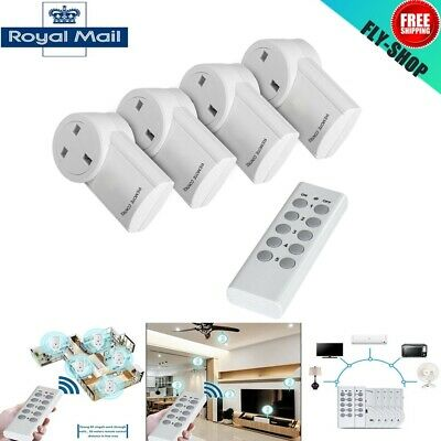 1~5X Wireless Remote Control Socket Home Mains Electrical UK Plug Outlet Switch