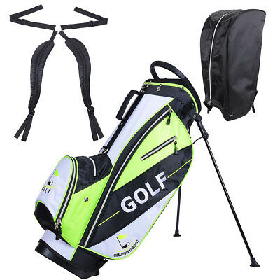 Golf Carry Cart Bag 14 Way Organizer Divider Stand w/Rain Hood & 7 Zipper Pocket