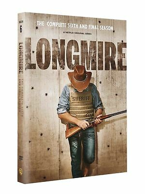 Longmire Season 6 DVD 2018 (3 Disc Set) Free shipping!