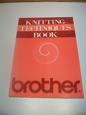 pb book knitting techniques book brother knitting machines
