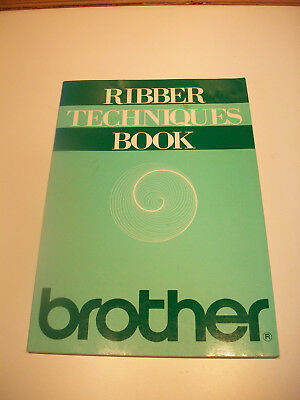 pb book ribber techniques book brother knitting machines
