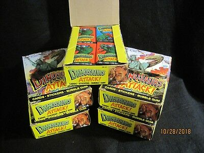 1988 Topps Dinosaurs Attack! Wax Box of 48 Unopened Packs