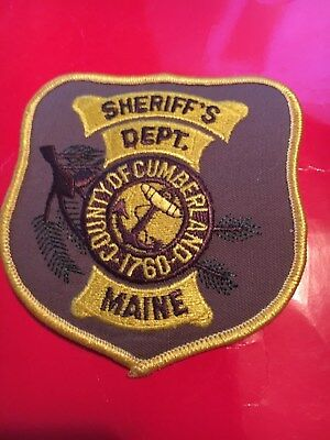 Cumberland County Maine Sheriff Police patch