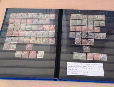 German East Africa 1900,1905-1916 Lozenges Wmk Used & MH Lot with Sc#29,37 Hi CV