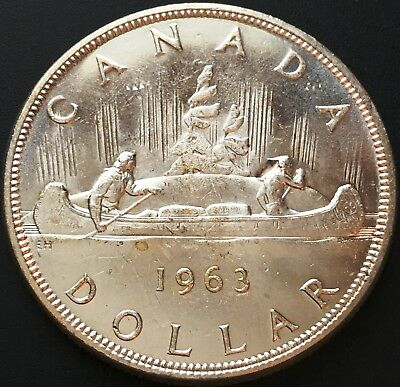 1963 Silver $1 Dollar Canada ***Great Condition*** 80% Silver Coin
