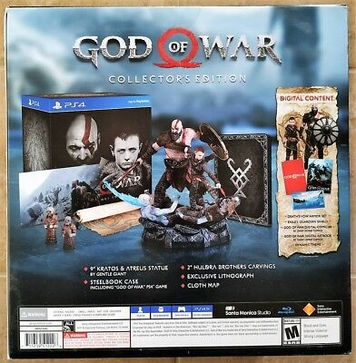 GOD OF WAR COLLECTOR'S EDITION 2018 (Sony PlayStation 4 PS4) Brand New Sealed