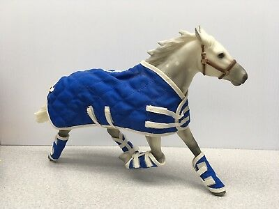 Breyer Traditional Horse with Blue Blanket and Booties. #07,292/10,000