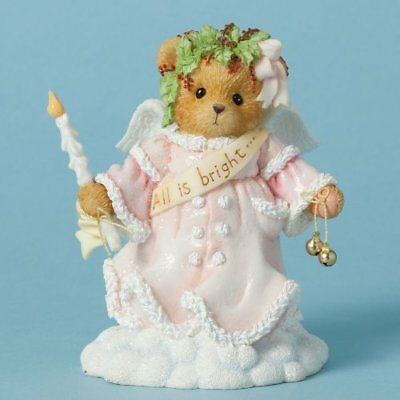 Cherished Teddies Wynter All is Bright Bear Holding Candle Christmas 4040476