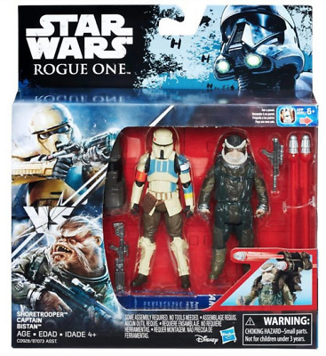 Star Wars Rogue One Shoretrooper & Captain Bistan 3.75 Inch 2 Pack