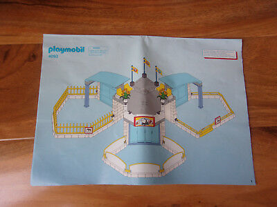 Playmobil Spare Parts  4093 Large baby Animal Zoo instructions only