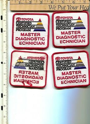 4 Toyota Technician 3-1/4 x 3-1/2 patches