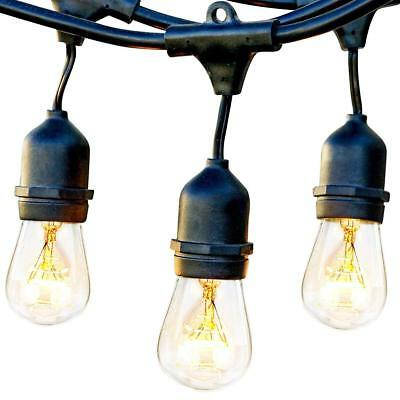 Brightech Ambience Pro - Waterproof Outdoor String Lights - Hanging Vintage 11W