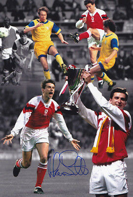 MON 001: HAND SIGNED 12x8 MONTAGE PHOTO ARSENAL: ALAN SMITH